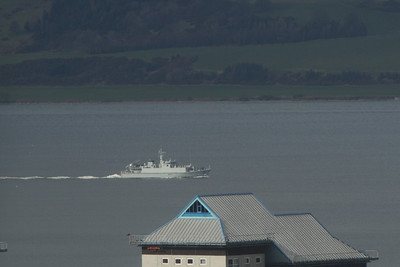 Warships On The River Clyde
