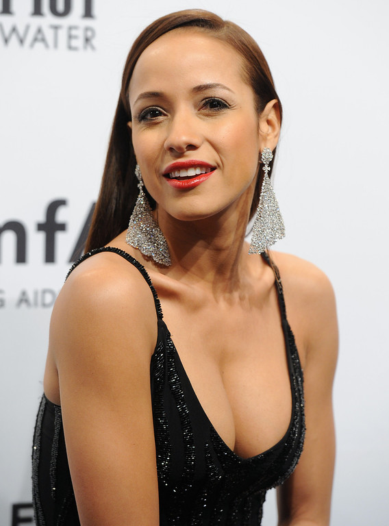 . Actress Dania Ramirez attends amfAR\'s New York gala at Cipriani Wall Street on Wednesday, Feb. 6, 2013 in New York. (Photo by Evan Agostini/Invision/AP)