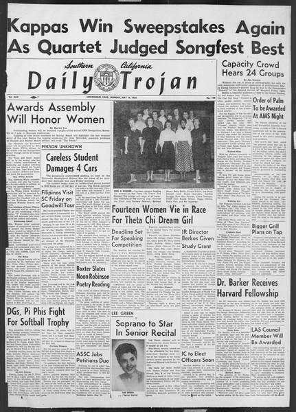 Daily Trojan, Vol. 46, No. 136, May 16, 1955