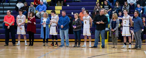 CCS Basketball, Band, and Cheer Senior Night, February 9