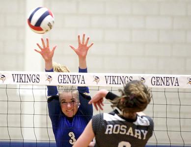 Geneva vs. Rosary Volleyball