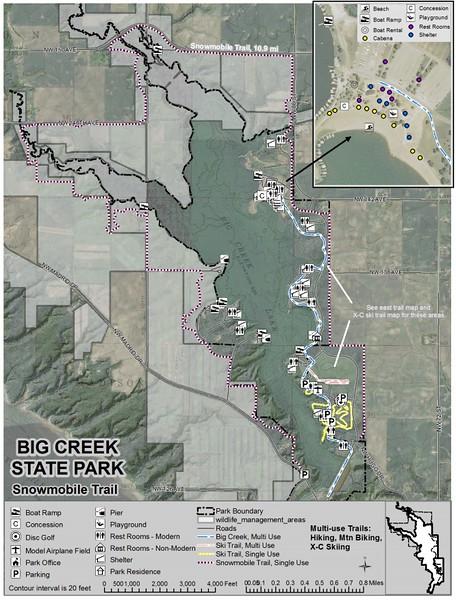 Big Creek State Park (Snowmobile Trails)