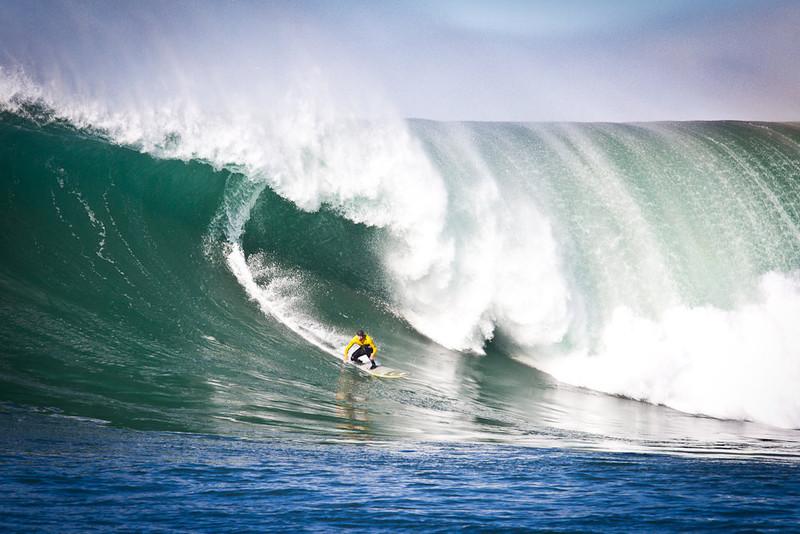 . Showing the power behind Mavericks. Photo by Ben Ingram of Ben Ingram Visuals and http://www.santacruzwaves.com
