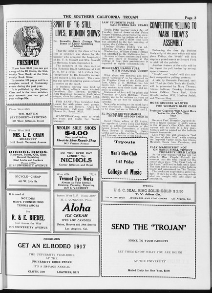 The Southern California Trojan, Vol. 8, No. 7, September 28, 1916