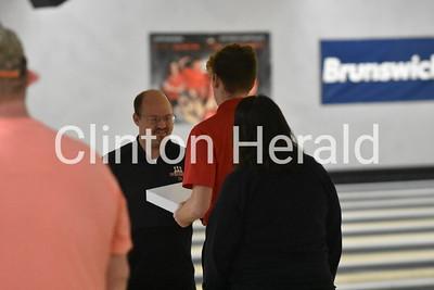 Clinton bowling Senior Night