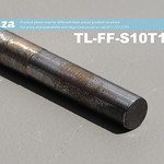 SKU: TL-FF-S10T10-50, 10mm Flat End Mill Granite Stone Router Bit with 10mm Fine Grit, Full Length ⩾50mm