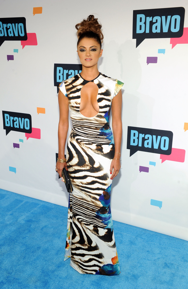 ". Golnesa ""GG\"" Gharachedaghi attends the 2013 Bravo New York Upfront at Pillars 37 Studios on April 3, 2013 in New York City.  (Photo by Craig Barritt/Getty Images)"