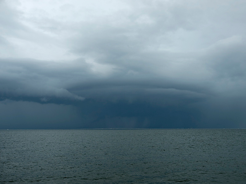 Whilst hunting waterspouts in Florida we nearly got lucky with this storm. It became a severe thunderstorm just before making landfall and could have quite easily dropped a spout. It never, but looked quite impressive against a water foreground.