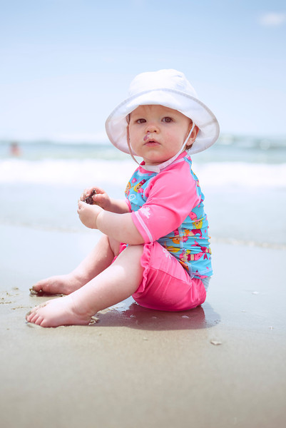 Evelyn Claire at the Beach