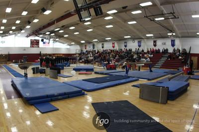 Girls Gymnastics Sectionals at Richfield High School 2-14-09