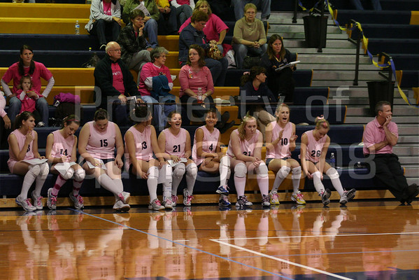 pink the place and senior night v. forreston . 10.16.08