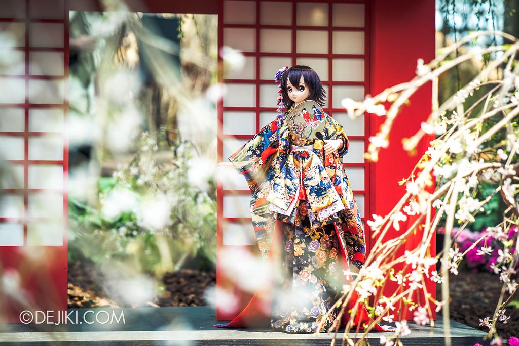 Gardens by the Bay - Sakura Matsuri 2018 floral display - flower field doll