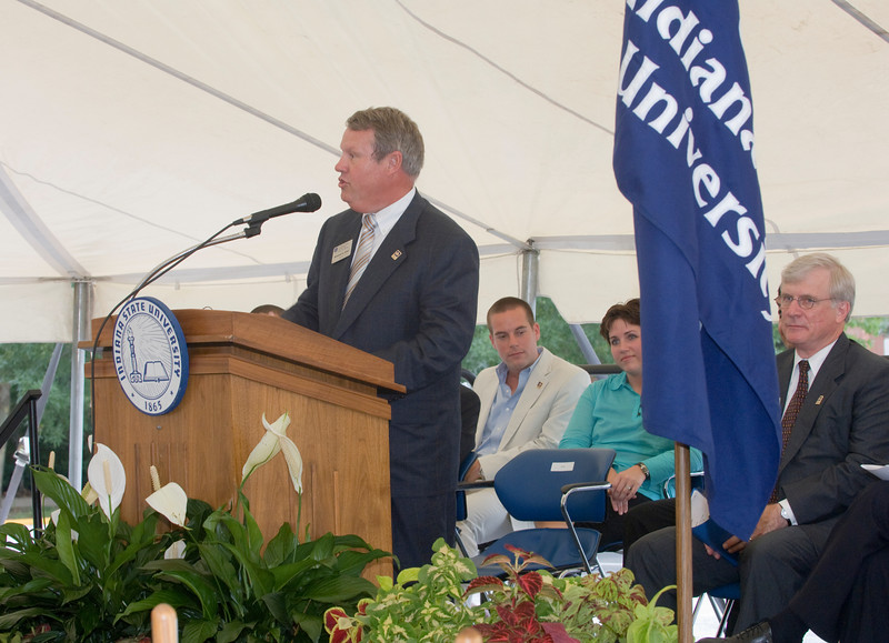 Groundbreaking ceremony for the student recreation center