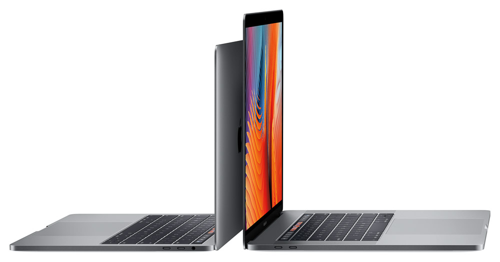2016 MacBook Pro, 13-inch and 15-inch models. Image courtesy Apple Inc.