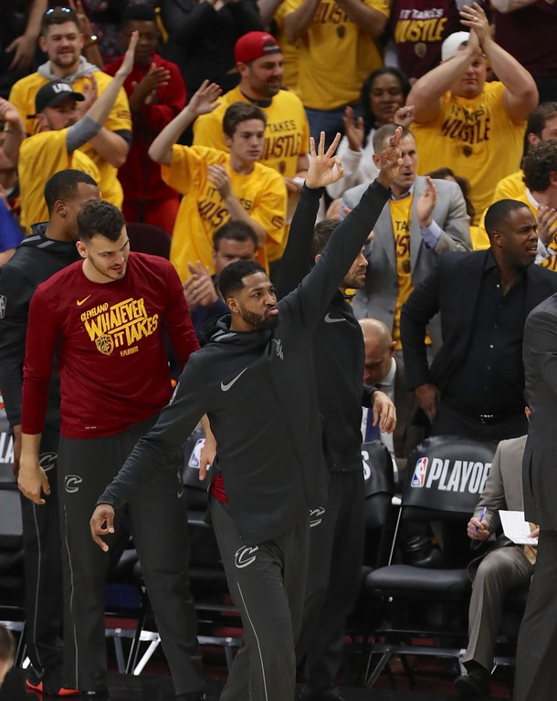 . Tim Phillis - The News-Herald Photos from Cavaliers vs. Raptors on May 7, 2018 in Cleveland.