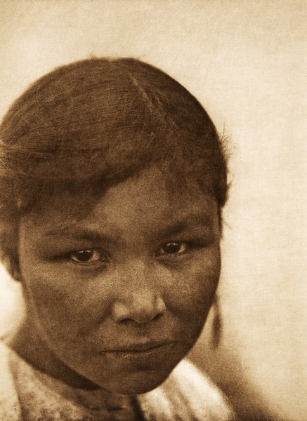A Cree girl (The North American Indian, v. XVIII. Norwood, MA, The Plimpton Press,  1928)