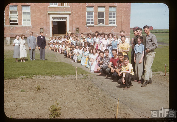 Aneroid school and teaching staff.  Aneroid.  06/12/1953