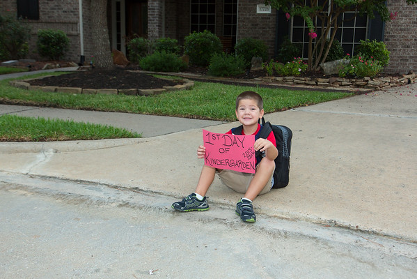 Caden 1st Day of Kindergarten