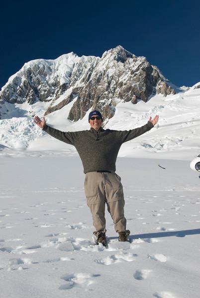 On top of the Franz Joseph Glacier, New Zealand