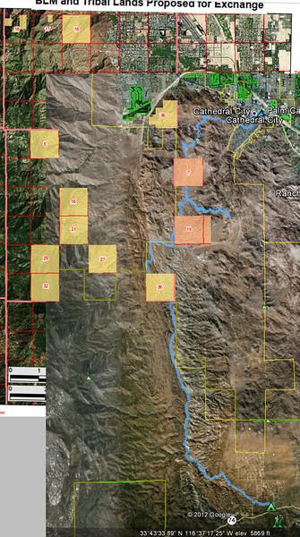 2012-03 - Palm Canyon, Vandervelter, Hahn, Wild Horse, Clara Burgess trails overlaid with BLM Land Swap.jpg