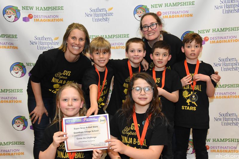 2nd place. 130-13142 ,Grantham Village School, Super Ninja B-Ball Stars, Grantham, NH, Fine Arts Challenge- Game On, Elementary Level