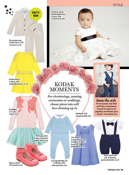 Gurgle magazine kids' fashion features