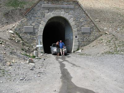 Parpaillon tunnelpoort. Neen we reden er niet door