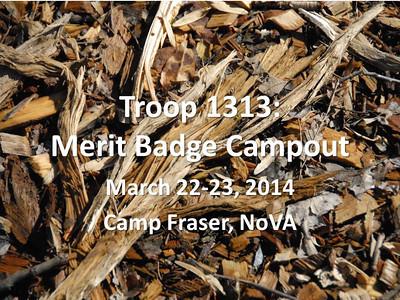 2.22.14 Camp Fraser Merit Badge Campout