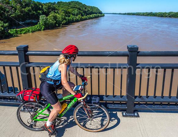 Biking in Missouri - Hermann