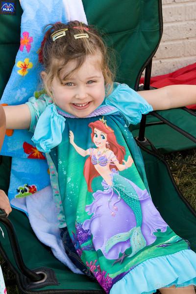 Her favorite Disney Princess, Ariel.