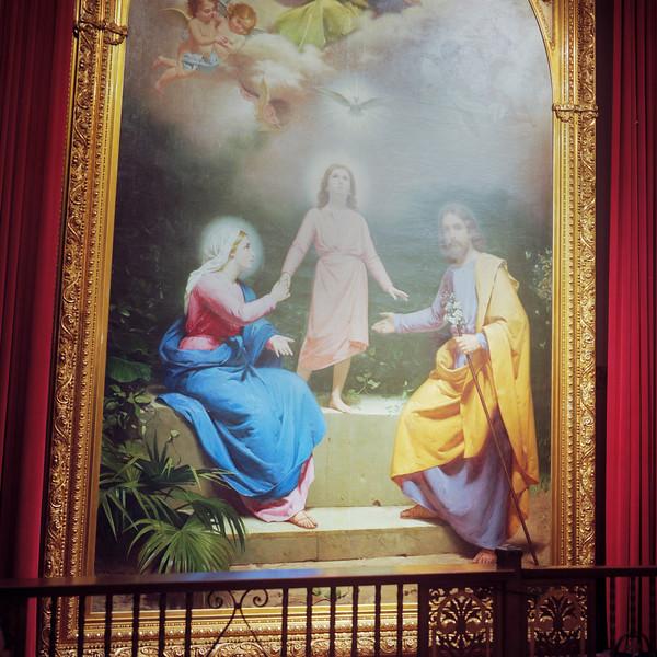 Mary, Joseph, and Christ