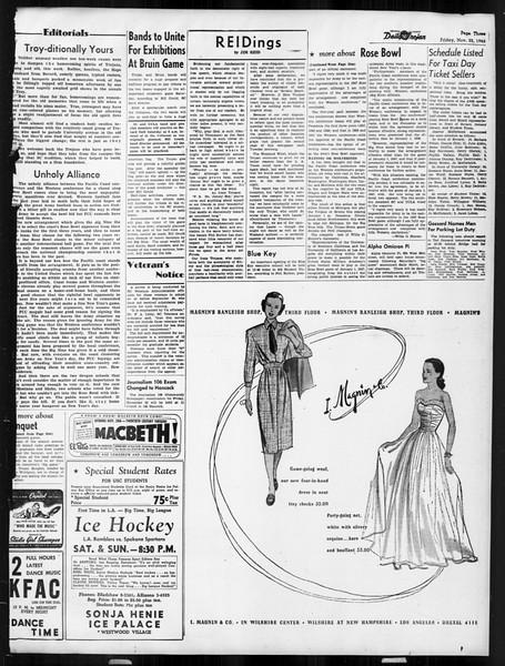 Daily Trojan, Vol. 38, No. 50, November 22, 1946