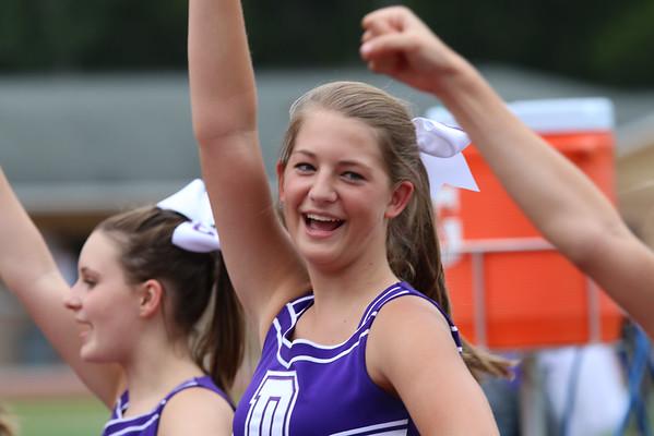 JV Football and Cheerleaders 2014