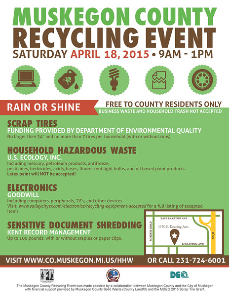 Muskegon County Recycling Event April 2015