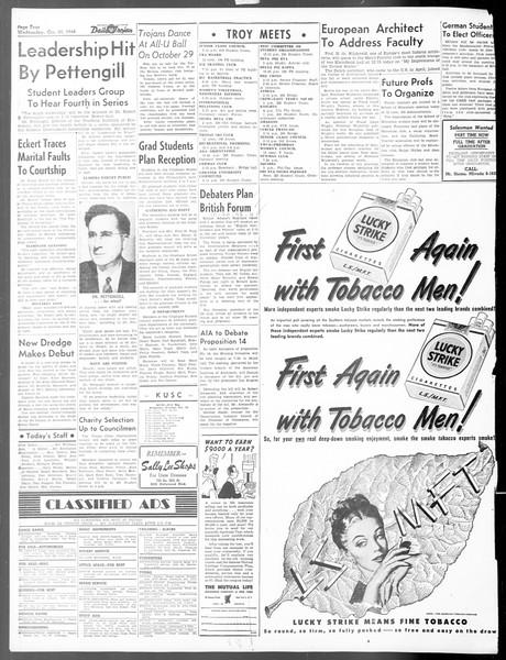 Daily Trojan, Vol. 40, No. 28, October 20, 1948