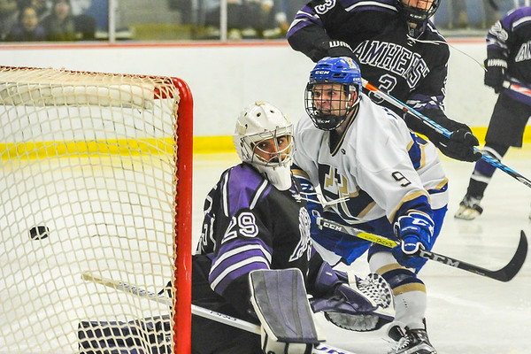 11/18/16 8:36:41 PM Hamilton College  Men's Hockey v Amherst College at Russell Sage Rink, Hamilton College, Clinton, NY<br /> <br /> Photo by Josh McKee