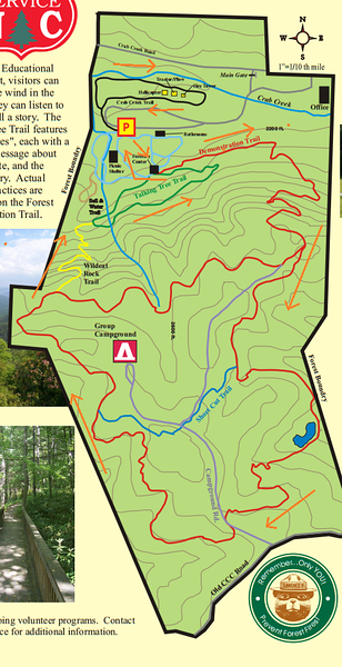 Holmes Educational State Forest Site Map