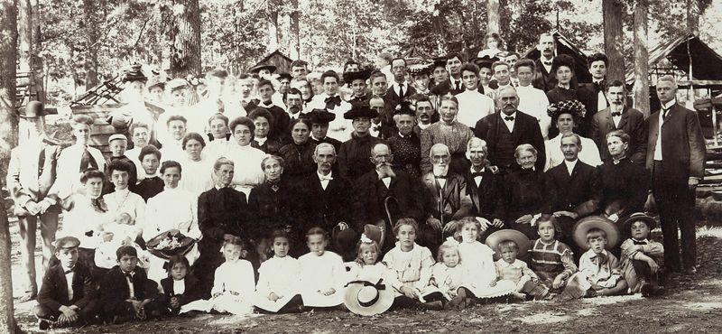 Stevems family reunion picnic 1905 at Three Springs, Huntingdon County, Pennsylvania