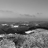View from mountain Hohe Acht in winter - monochrome