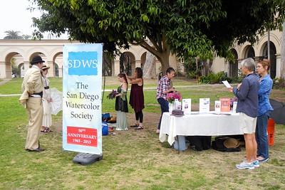 SDWS Paintout at Balboa Park, 3/21/15