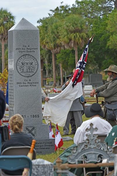 SCV Monument in Palmeto Cemetery 12-01-18