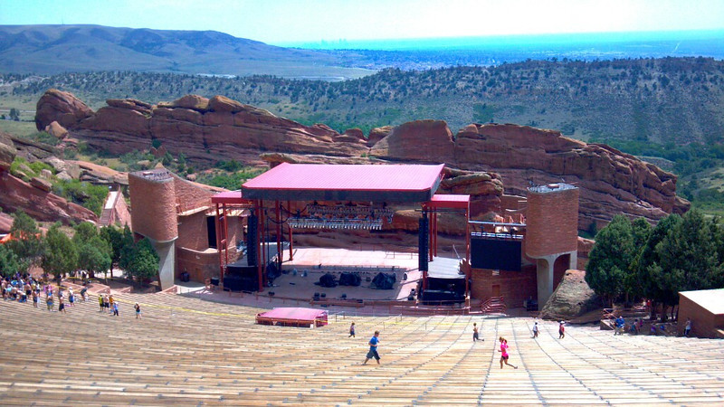 Cell phone pic of Red Rocks.