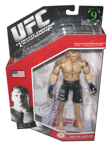 Brock Lesnar Autographed (UFC 87) UFC Series 9 JAKKS Pacific Figure