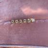 .78-.82ctw Asscher Stud Earrings, in Yellow Gold 22