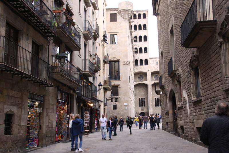 Paseo del Born in Gothic Quarter