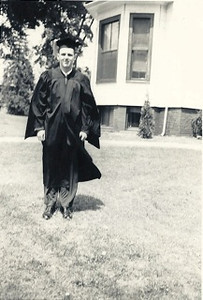 1954 05 Nat Weiner UMass Graduation