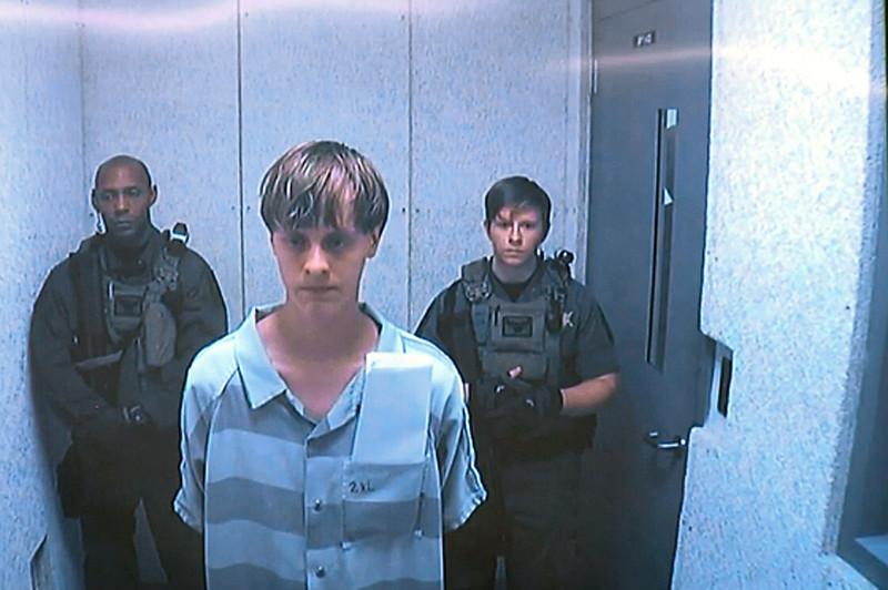 . Dylann Roof appears via video before a judge in Charleston, S.C, on Friday, June 19, 2015. The 21-year-old man accused of killing nine people inside a black church in Charleston made his first court appearance Friday, with the relatives of all the victims making tearful statements. (Centralized Bond Hearing Court, of Charleston, S.C. via AP, Pool)