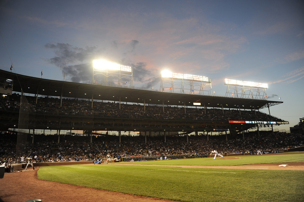 . A general view of Wrigley Field during the fourth inning in a game between the Chicago Cubs and the Colorado Rockies on May 15, 2013 in Chicago, Illinois.   (Photo by David Banks/Getty Images)