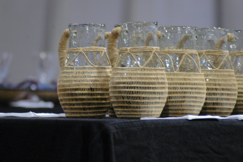 Communion ware for use at opening worship.