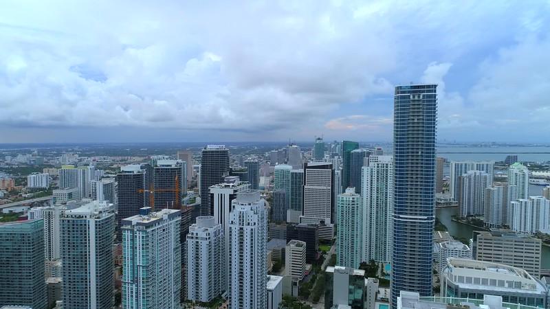 Drone aerial Miami Brickell 4k